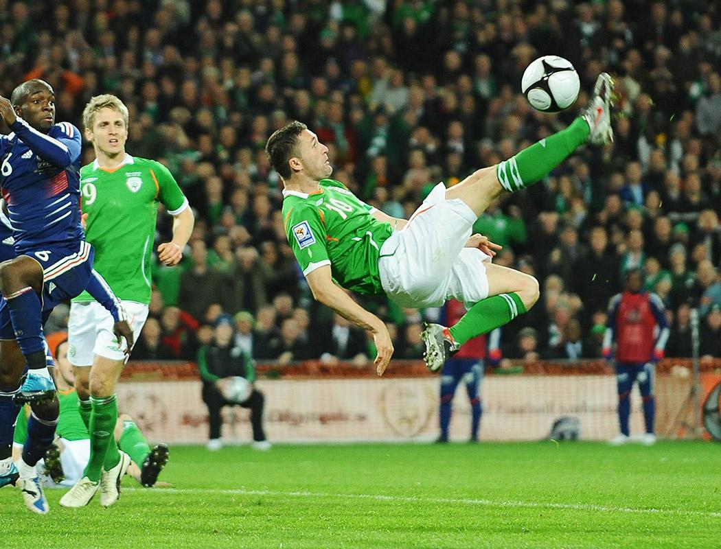 Soccer in Croke Park Stadium Dublin Ireland